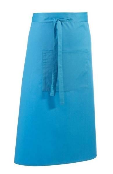 türkise Bistroschürze mit Tasche pr158