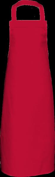 Rote Latzschürze extra lang X969 Link Kitchenwear