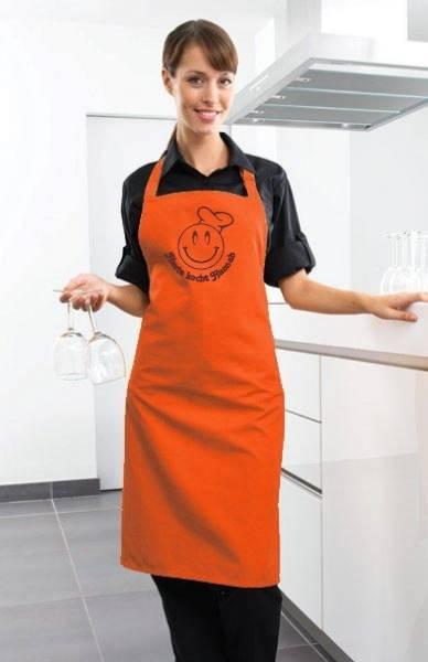 Orange heute kocht Motivschürze mit Namen