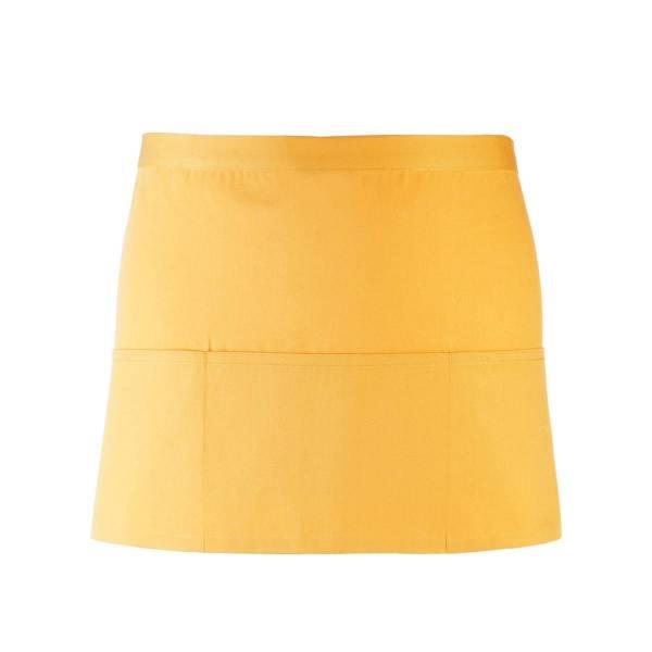 Gelber Vorbinder / kurze Kellnerschürze gelb