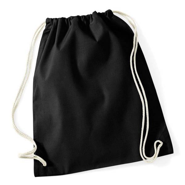 Wäschesack Gymsack 100% Baumwolle schwarz 37x46cm