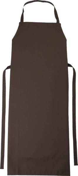 Braune Latzschürze 110x78cm Verona toffee von CG Workwear