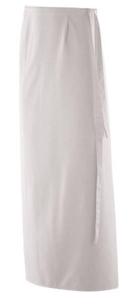 XXL Bistroschürze Baumnwolle weiß 130x100cm