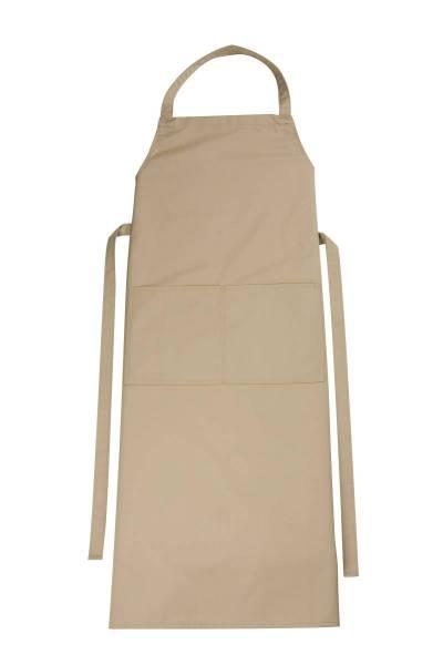 Khaki Latzschürze mit Tasche Verona von CG Workwear