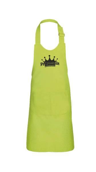 Apfelgrüne Kinderschürze Prinzessin V1 64x47cm freitex