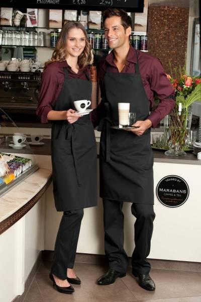 schwarze Latzschürze mit Tasche Verona von CG Workwear