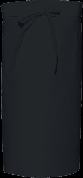 schwarzer Vorbinder / Bäckerschürze mit Tasche X970T