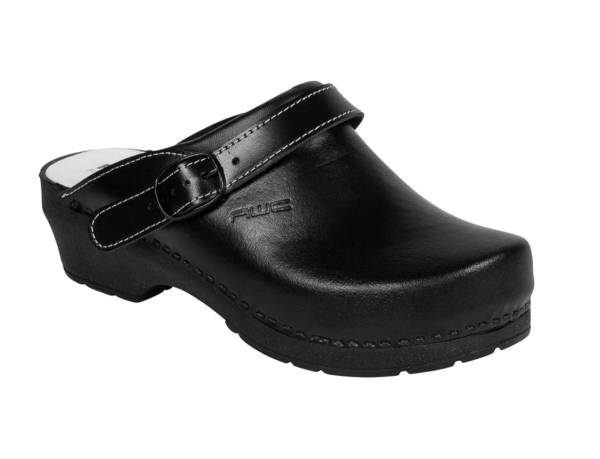 AWC Arbeitsschuh Leder Clogs schwarz