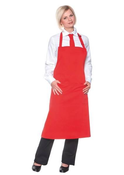 Rote Latzschürze mit Taschen BLS5
