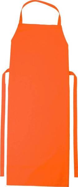 Orange Latzschürze 90x78cm Verona von CG Workwear