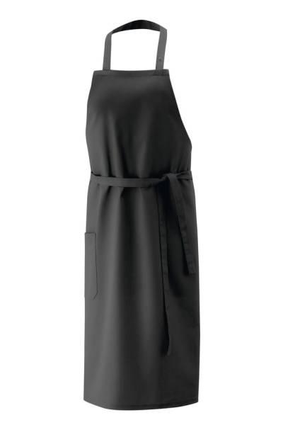 Schwarze Latzschürze 75x75cm ex142