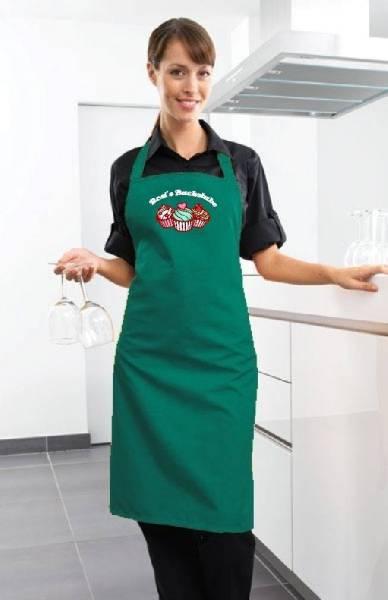 Emerald grüne Backschürze Cupcake Backstube cb1n von freitex