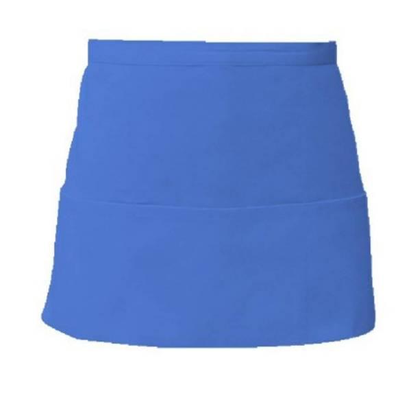 Blauer Vorbinder mit 3 offenen Taschen