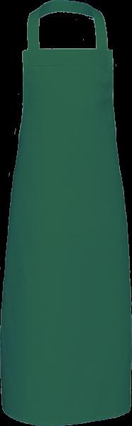 Dunkelgrüne Latzschürze extra lang X969 Link Kitchenwear