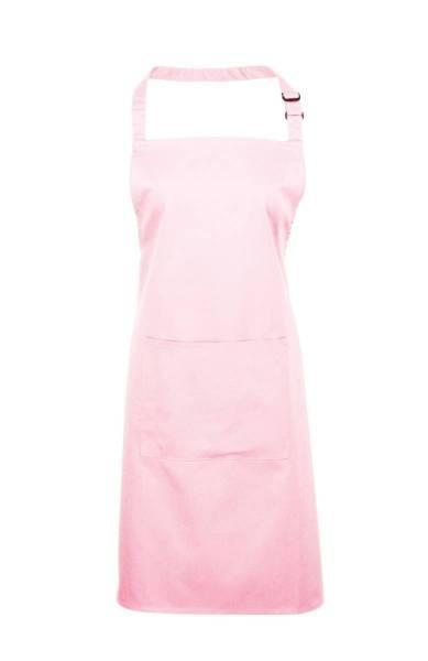 rosa Latzschürze mit Tasche