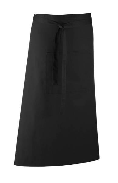 Schwarze Bistroschürze mit Tasche pr158