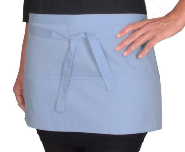 Hellblauer Vorbinder mit 3 offenen Taschen