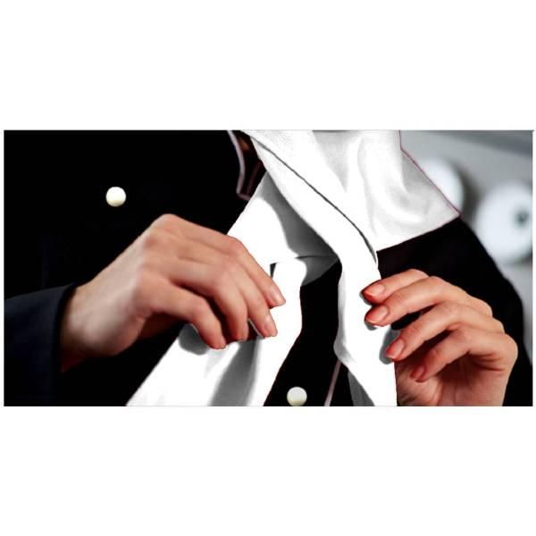 Weißes Halstuch für Köche und Bäcker 100% Baumwolle 110x75x75cm