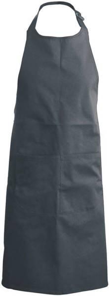 Dunkelgraue Latzschürze mit Taschen K890