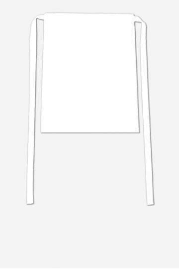 Weißer Vorbinder 78x50 cm Roma
