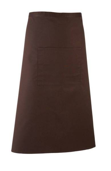 braune Bistroschürze mit Tasche pr158
