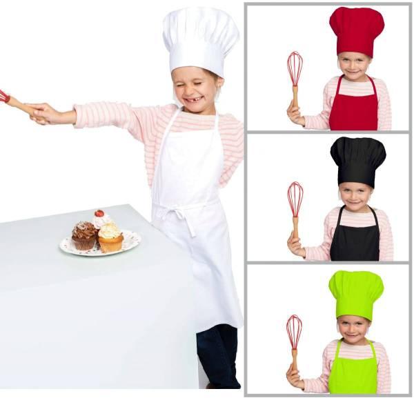 Set Kinderschürze + Kochmütze