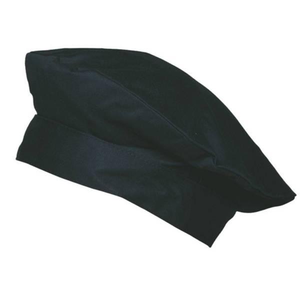 Schwarze Barett-Kochmütze Luka