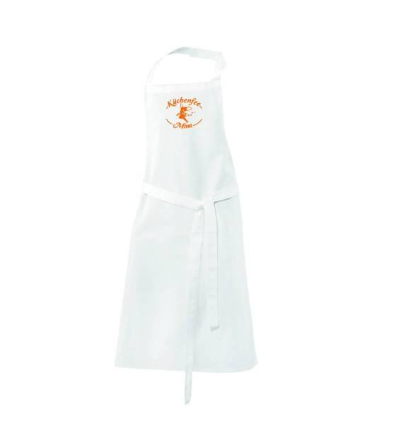 Weiße Kinderschürze Küchenfee ex122