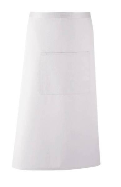 weiße Bistroschürze mit Tasche pr158