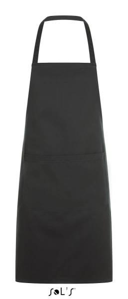 Dunkelgraue Latzschürze mit Tasche Sol´s Gramercy