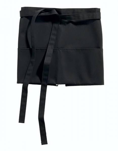 Kurzer Vorbinder schwarz mit Taschen Roma Mini CG Workwear
