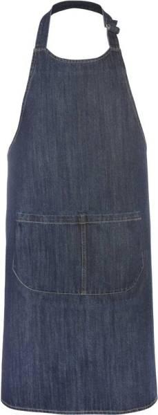 Denim Baumwollschürze mit Taschen Jeansoptik