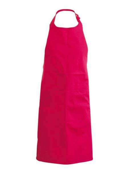 rote Baumwollschürze mit Taschen Kariban k885