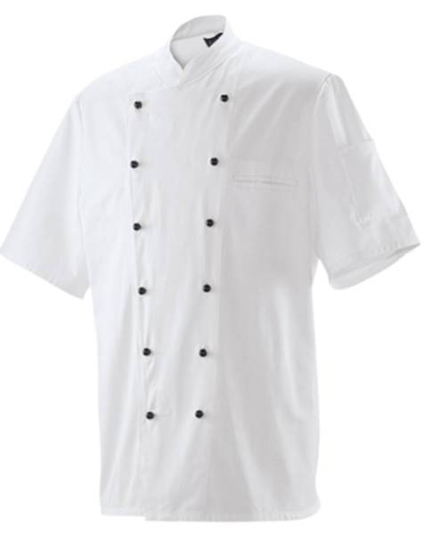 Weiße Kochjacke Bäckerjacke halbarm