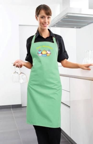 Aqua Motivschürze Cupcake mit Name CB2N