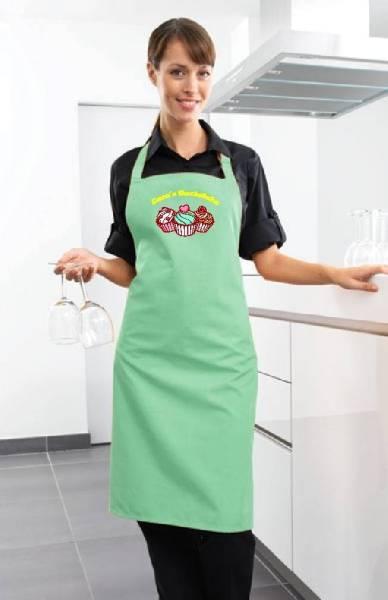 aquagrüne Backschürze Cupcake Backstube cb1n von freitex