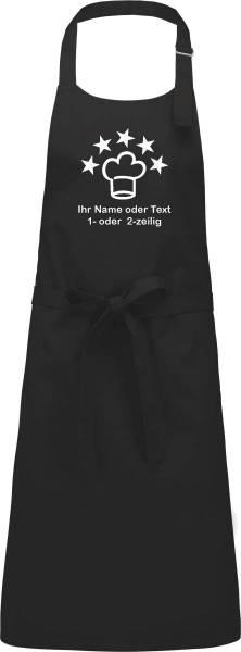 Kochschürze bedruckt mit Name und Motiv 5Sterne