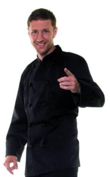 schwarze Kochjacke bjm1