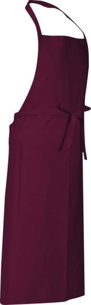 Cherry rote Latzschürze 90x78cm Verona von CG Workwear