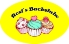 Gelbe Backschürze individuell bedruckt mit Name, Motiv Cupcake Backstube