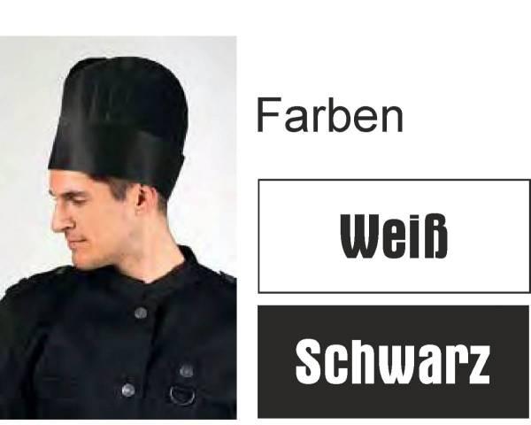 Einweg-Kochmützen Weiß, Einweg-Kochmützen Schwarz