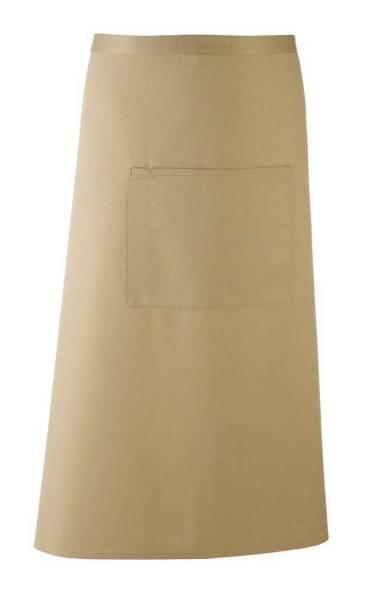 khaki braune Bistroschürze mit Tasche pr158