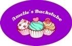 Lila Backschürze individuell bedruckt mit Name, Motiv Cupcake Backstube