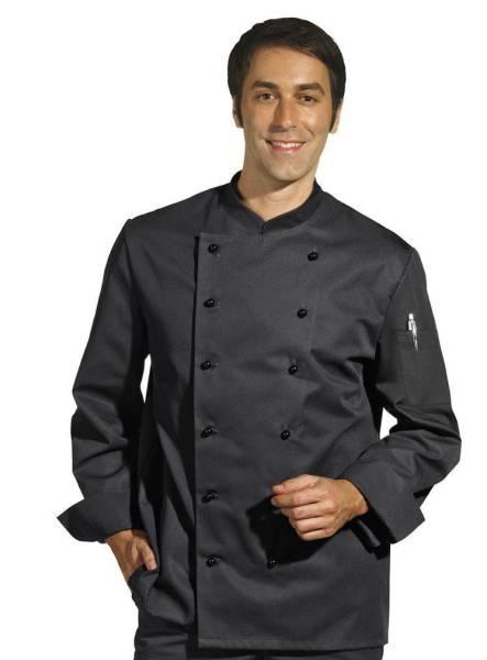 Schwarze Kochjacke unisex LB8790
