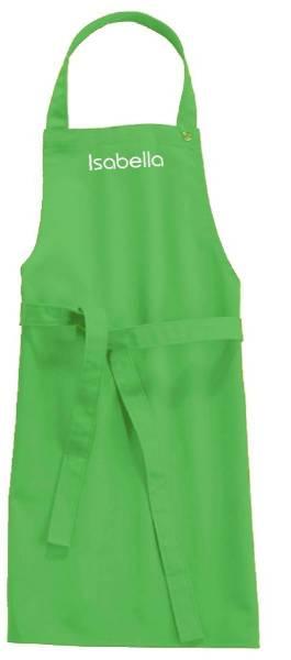 Jadegrüne Kinderschürze mit Name 78x50cm freitex