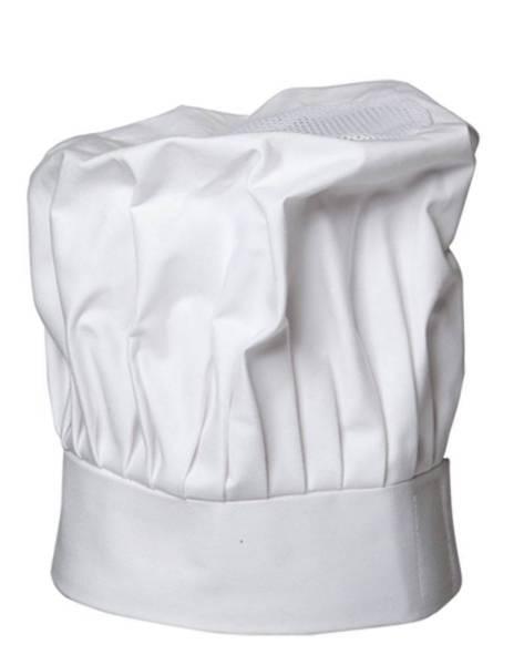 Weisse Kochmütze mit Netzeinsatz Jean