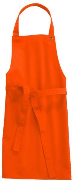 Orange Kinderschürze 95 Grad waschbar