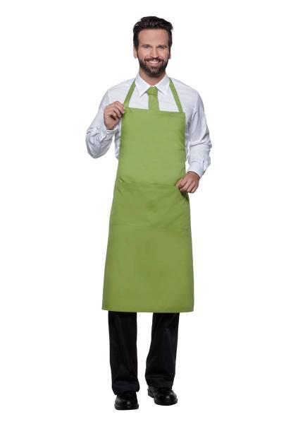 Hellgrüne Latzschürze mit Taschen Teneriffa von Karlowsky