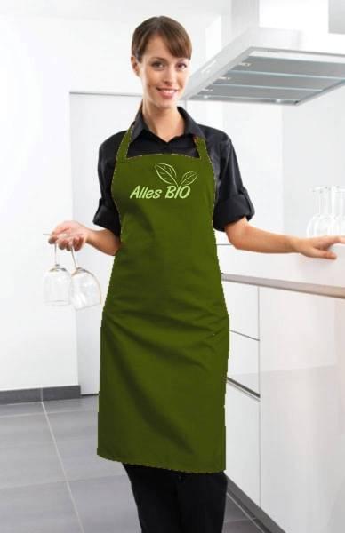 Alles Bio Schürze olivgrün ab2
