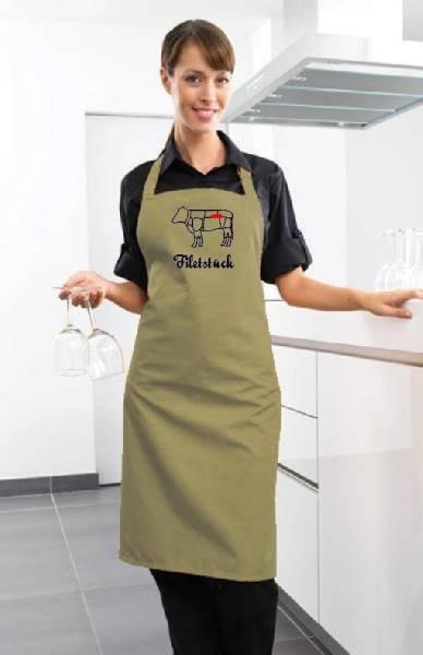 Khaki Schürze Filetstück Rind